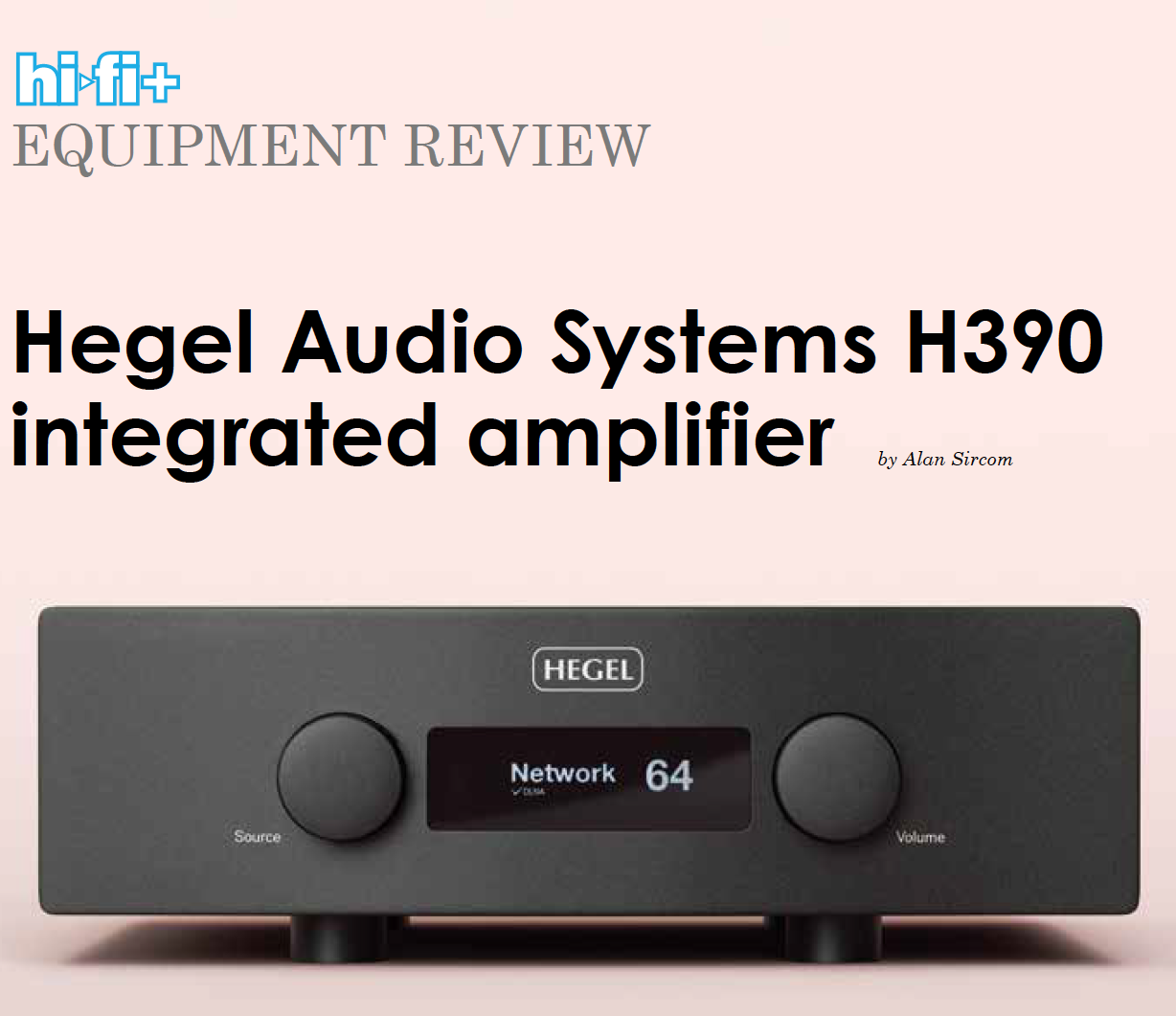 Hegel's H390 gets a WOW|