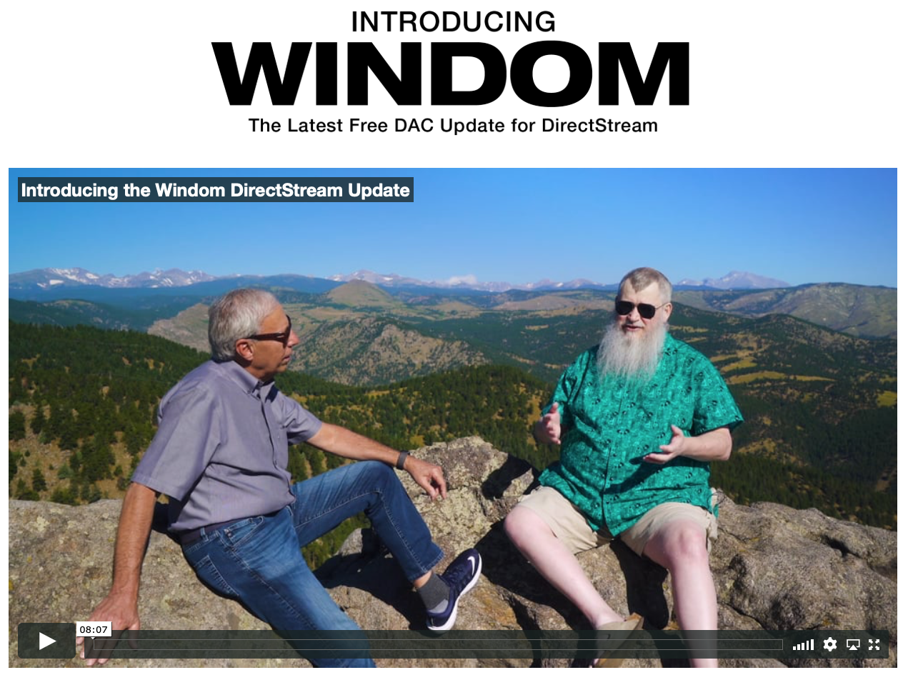 PS Audio's Windom update for Directstream is here!
